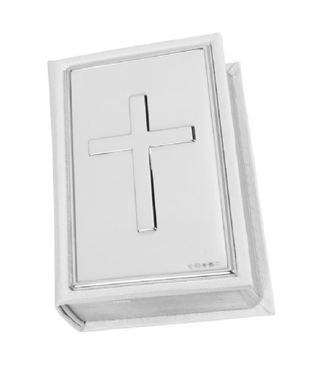 Hallmarked Sterling Silver White Bible